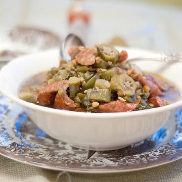 Lentil Sausage Gumbo