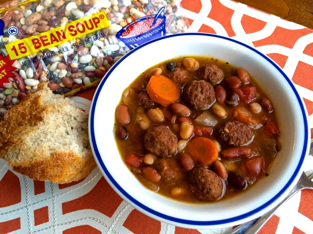 15 BEAN SOUP Meatballs