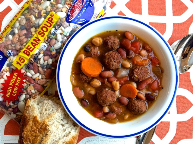 15 BEAN SOUP with Mini Meatballs